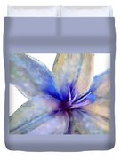 Floral Series - Lily Duvet Cover by Moon Stumpp