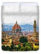 Florence impasto Duvet Cover by Steve Harrington