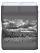 Florida Everglades 0184bw Duvet Cover by Rudy Umans