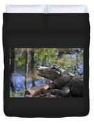 Florida - Where The Alligator Smiles Duvet Cover by Christine Till