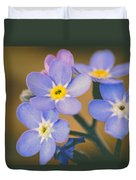 Forget Me Nots Duvet Cover by Marco Oliveira