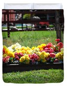 Flower Bed Duvet Cover by Holly Blunkall