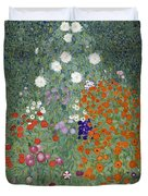 Flower Garden Duvet Cover by Gustav Klimt