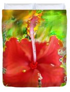 Flower Red Duvet Cover by Nedunseralathan R