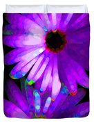 Flower Study 6 - Vibrant Purple by Sharon Cummings Duvet Cover by Sharon Cummings