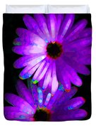Flower Study 6 - Vibrant Purple By Sharon Cummings Duvet Cover by Sharon Cummings