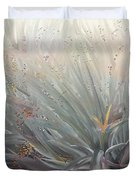 Flowering Bushes In The Fog Duvet Cover by Angela A Stanton