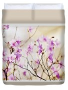 Flowering Rhododendron Duvet Cover by Elena Elisseeva