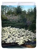 Flowers and Pool Duvet Cover by Terry Reynoldson