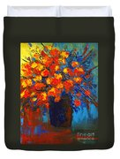 Flowers Are Always Welcome IIi Duvet Cover by Patricia Awapara