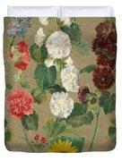 Flowers Duvet Cover by Ferdinand Victor Eugene Delacroix