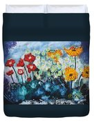 Flowers Through The Storm Duvet Cover by Michael Kulick