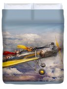 Flying Pig - Plane - The Joy Ride Duvet Cover by Mike Savad