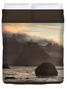 Fog Over Trinidad Duvet Cover by Adam Jewell