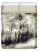 Foggy Landscape Stephens Passage Duvet Cover by Ron Sanford