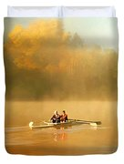 Foggy Morning On The Chattahoochee Duvet Cover by Darren Fisher
