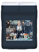 Folies Bergere Revisited Duvet Cover by Tom Roderick