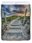 Follow The Path Duvet Cover by Sebastian Musial