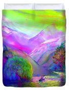 Following the Flow Duvet Cover by Jane Small