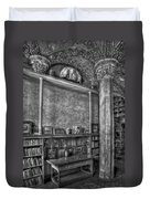 Fonthill Castle Library Duvet Cover by Susan Candelario