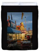 Food Court Duvet Cover by Skip Willits