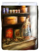 Food - Kitchen Ingredients Duvet Cover by Mike Savad