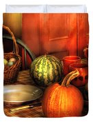 Food - Nature's Bounty Duvet Cover by Mike Savad