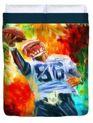 Football II Duvet Cover by Lourry Legarde