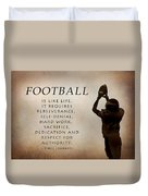 Football Duvet Cover by Lori Deiter