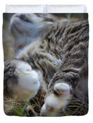 For The Love of Stretching Duvet Cover by Marilyn Wilson