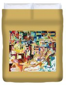 for we have already merited to receive our Holy Torah 4 Duvet Cover by David Baruch Wolk