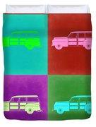 Ford Woody Pop Art  Duvet Cover by Naxart Studio