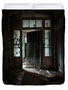 Foreboding Doorway Duvet Cover by Gary Heller