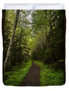 Forest Beckons Duvet Cover by Mike Reid