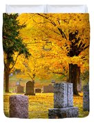 Autumn at Forest Hill Duvet Cover by Mary Amerman