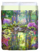Forest of Light Duvet Cover by Jane Small