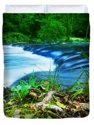 Forest Stream Running Fast Duvet Cover by Michal Bednarek