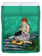 Forget Me Not... Duvet Cover by Xueling Zou