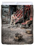 Foundry Worker Duvet Cover by Adrian Evans