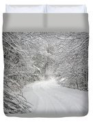 Four Wheel Winter Duvet Cover by John Haldane