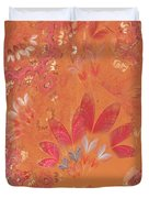 Fractal - Abstract - Japanese motif Duvet Cover by Mike Savad
