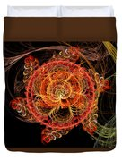 Fractal - Abstract - Mardi Gras Molecule Duvet Cover by Mike Savad
