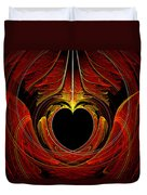 Fractal - Heart - Victorian Love Duvet Cover by Mike Savad