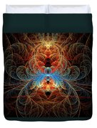 Fractal - Insect - Black Widow Duvet Cover by Mike Savad