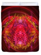 Fractal - Insect - Jeweled Scarab Duvet Cover by Mike Savad