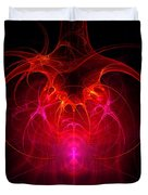 Fractal - Science - The neural network Duvet Cover by Mike Savad