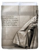 Franklin Delano Roosevelt Memorial - Bits and Pieces 7 Duvet Cover by Mike McGlothlen