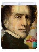 Franklin Pierce Duvet Cover by Corporate Art Task Force