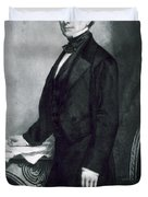 Franklin Pierce Duvet Cover by George Healy