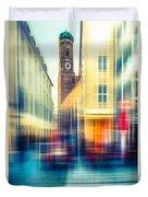 Frauenkirche - Munich V - Vintage Duvet Cover by Hannes Cmarits